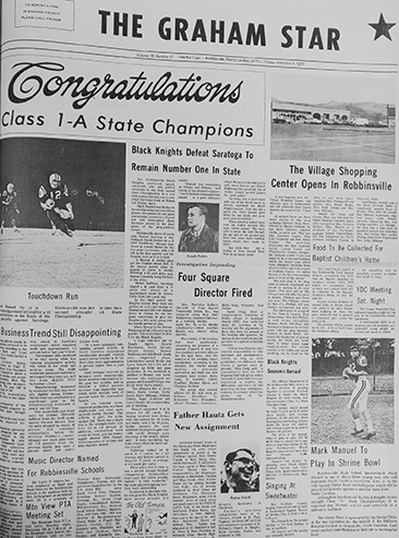 The Graham Star's front page from 50 years ago (Dec. 4, 1970).