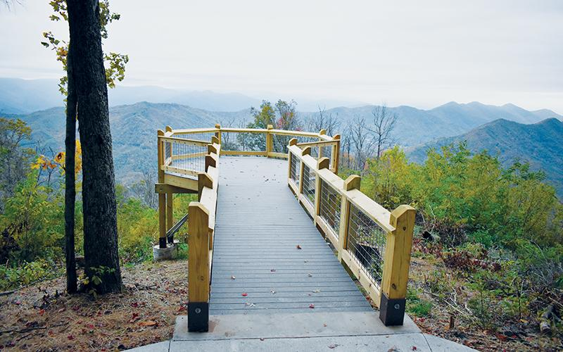 The Maple Springs Observation Deck, located off the Cherohala Skyway, re-opened three weeks ago.