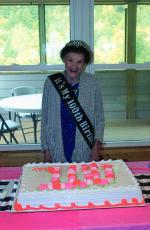 Neowne Adams was all smiles as she celebrated her 100th birthday with friends and family at Cedar Cliff Baptist Church on Oct. 20. Mrs. Adams turned 100 on Friday.