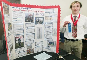 Justin Stewart won the Individual Exhibit category at the recent National History Day Competition at Western Carolina University.