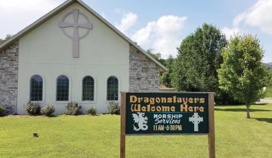 Grace Fellow Baptist Church on Tapoco Road extends a special invitation on those interested in taming the Dragon. Photo by Eric Reece/The Graham Star