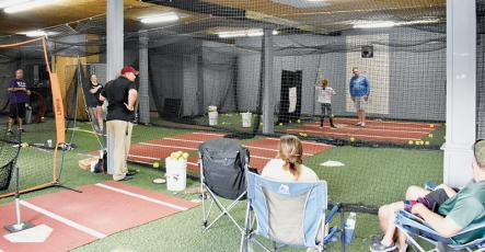 """The Rock"" – an indoor softball facility – cannot be located on a map, but you can pinpoint much of Robbinsville's success on the diamond to the hours spent putting in reps at the building. Photo by Kevin Hensley/editor@grahamstar.com"