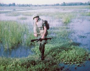The unusual landscape of Vietnam is just one obstacle Graham County resident Bob Lewis experienced while defending the United States.